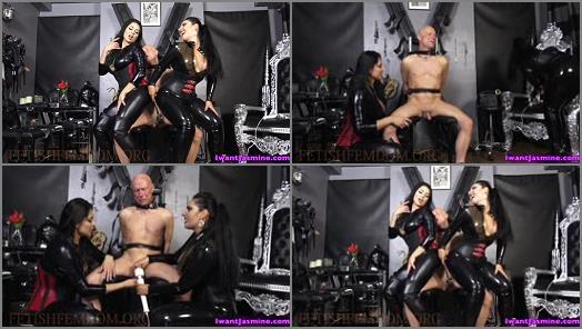 Cock Tease –  Jasmine Mendez LatinAss Locas – 125 days of CHASTITY –  Mistress Ezada and Jasmine Mendez