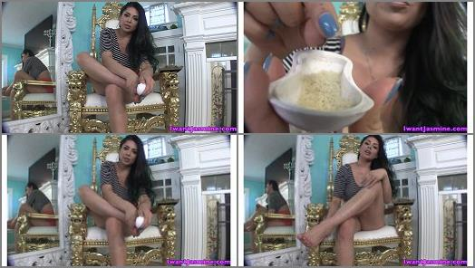 Men following orders – Jasmine Mendez – foot dust for slave nate