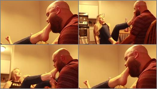 Foot in mouth – Kat Soless – Kat Gags Her Coworker