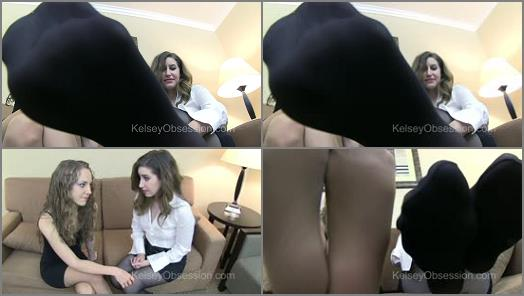 Nylon feet – Kelsey Obsession Fetish – Kelsey Obsession, Charli Piper – Foot Domination Pantyhose Office Slave