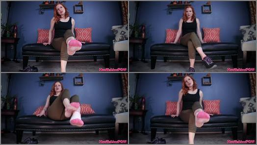 Socked feet – Lady Fyre – Ruin Your Orgasm For My Sweaty Socks