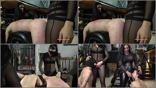 Humiliation –  MISTRESS GAIA – STRAP ON FOR TWO –  Mistress Gaia and Mistress Ezada