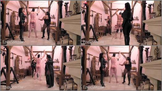 Shoe & Boot Worship – Mistress Ezada Sinn – Cruel double whipping at the OWK –  Mistress Saint Lawrence