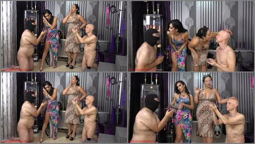 Whip –  Mistress Ezada Sinn – Human ashtray or human toilet –  Mistress Kennya