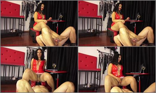 Female Domination – Mistress Ezada Sinn – My chaste ass cushion