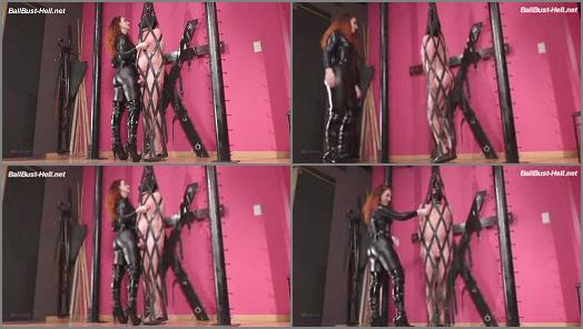 Leather Cage – Mistress Lady Renee – Caught hanging around