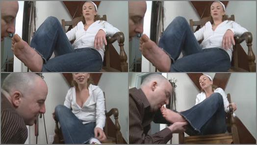 Foot fetish – Mistress T – Fetish Fuckery – Sweaty Feet Tongue Bath