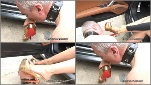 Shoe & Boot Worship –  QUEENS OF KINK – Elite Mistress Shoe Cleaner –  Fetish Liza