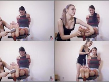 Tickling torture - Russian Fetish - Astrid playfully tickles Katya's beautiful feet