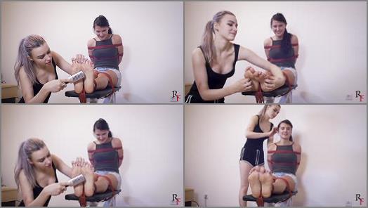Tickling torture – Russian Fetish – Astrid playfully tickles Katya's beautiful feet