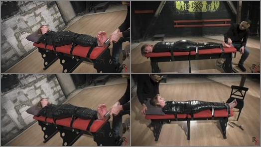 Tickle feet – Russian Fetish – Mummification, tickling and a little foot torture for Katrina's soles