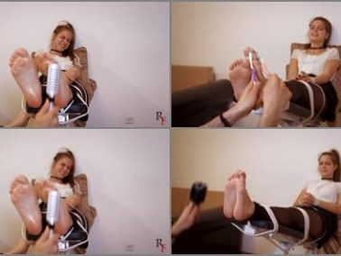 Foot tickling - Russian Fetish – Tickling the beautiful Leya's feet with many devices