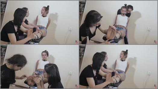Tickling torture – Russian Fetish – Tickling to tears for Leya – Where is our suitcase with money, bitch