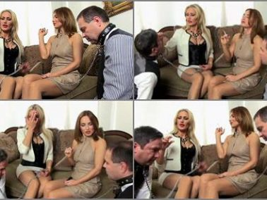Bitchy - SADO LADIES Femdom Clips – 2 ladies, 2 butlers, 2 human ashtrays -  Countess Constance And Lady Dana