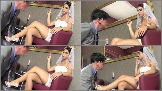 Smoking – SADO LADIES Femdom Clips – Ashtray For The Bride