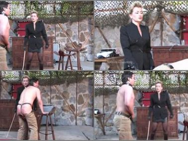 Female Domination - SADO LADIES Femdom Clips – Caned By The Business Lady -  Lady Pascal