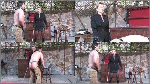 Female Domination – SADO LADIES Femdom Clips – Caned By The Business Lady –  Lady Pascal