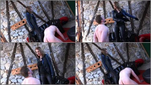 Slapping –  SADO LADIES Femdom Clips – Slapped Hard By The Bikerlady –  Mistress Cloe