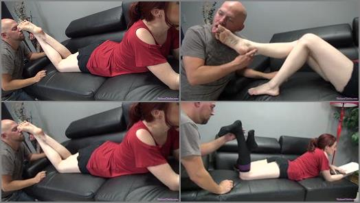 Foot fetish – Shauna is ignoring her slave while he licks her sneakers and socks