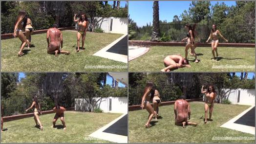 Whipping – THE MEAN GIRLS – Beaten and Kicked –  Princess Bella, Princess Beverly and Princess Carmela