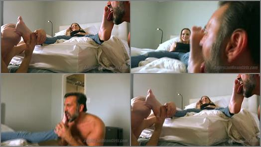 Feet slave – THE MEAN GIRLS – Goddess Platinum, Princess Beverly – Mean Girl AirBnB- The Foot Worship Bitches