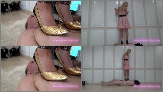 Foot Domination – THE MEAN GIRLS – Under American Mean Girls: Nonstop Trample Agony –  Empress Jennifer, Princess Bella, Princess Cindi and Goddess Raven