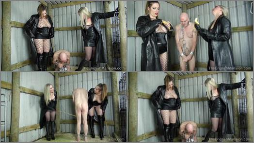 Caning – The English Mansion – Owned Cunt – Part 1-3 –  Mistress Evilyne and Mistress Sidonia