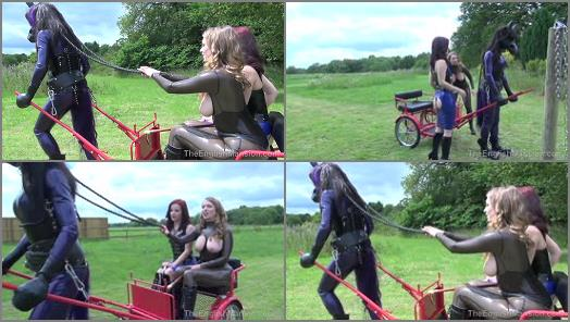 Mistress – T – TheEnglishMansion – Rubber Horse Drawn Cart – Part 2 Starring Mistress Lola Ruin & Mistress T