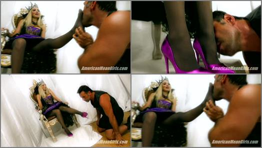 Foot Humiliation –  The Mean Girls – Enslaved By The Evil Queen –  Queen Platinum