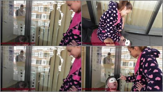 Brat Girls –  femdomuncut Store – Princess Amira and her human ashtray