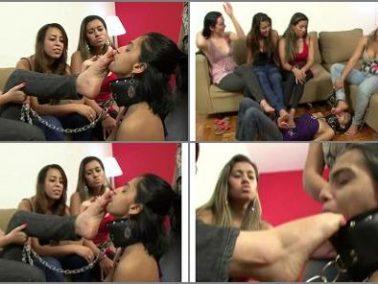 Foot fetish - BRAZIL FEET - Lick Four Princesses's Delicious Feet part 4