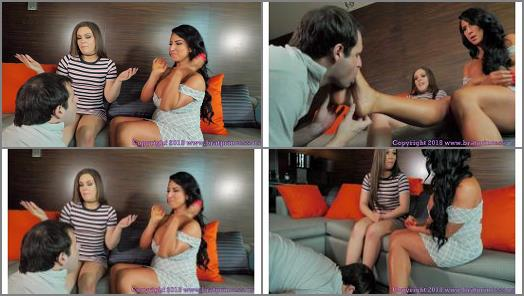 Financial Ruin –  Brat Princess 2 – Kimber and Raven – Mom and Daughter Financially Dominate a Loser