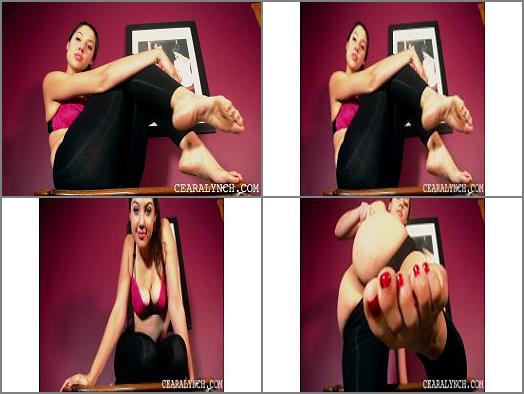 Foot JOI – Ceara Lynch – Sexy Bare Feet
