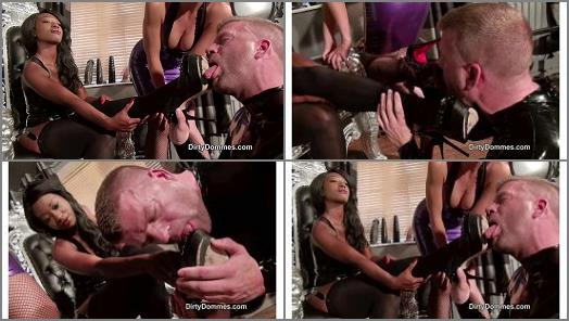 High Heels –  Dirty Dommes – Stiletto shoe slave training part 2