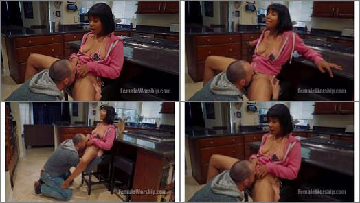 Interacial –  Female Worship – Time To Get On Your Knees –  Jenna Foxx and Stirling Cooper