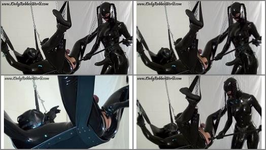 Bondage Male – Kinky Rubber World – Used by Lara with the Dildo Stick