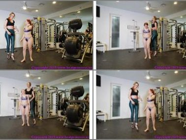 Lift And Carry -  Brat Princess 2 – Lizzy Lamb and Sablique von Lux – Tiny Girl Pushed Around in Gym