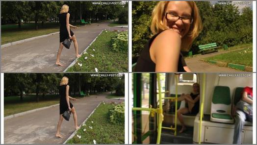 City Feet  A blonde in a black dress Part 4 preview