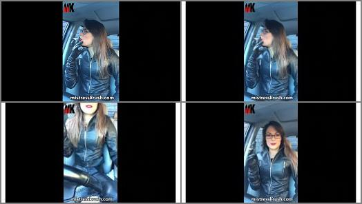 Mistress Krushs Clips Store  Smoking in leather  preview