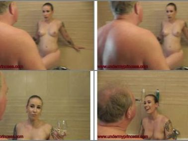 Spitting -  Under My Princess – Princess Mini Bathroom Domination Cam 2 Part 1