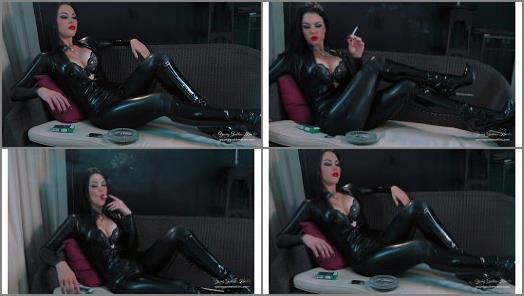 Boot Fetish –  Young Goddess Kim – Latex Smoke Seductress
