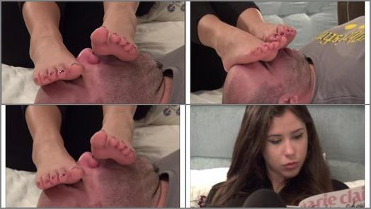 ALICE  The Toys Of The Top Model  Foot Worship And Foot Massage On Face preview
