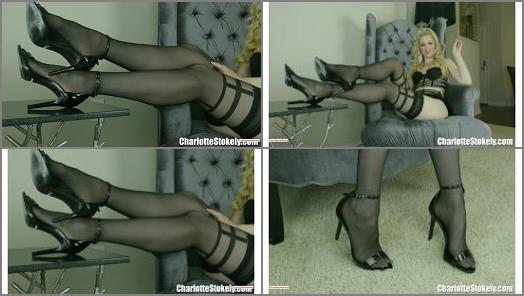 Shoes – Charlotte Stokely – Black Stockings Are Ur Sure Thing