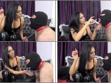 Human Ashtray -  House of Sinn – An ashtray swallows all -  Mistress Sheyla