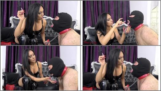 Human Ashtray –  House of Sinn – An ashtray swallows all –  Mistress Sheyla