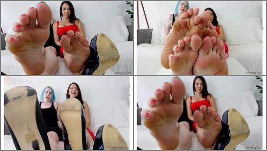 Blue hair – Stella Liberty, Lux Lives – Double Foot Domination