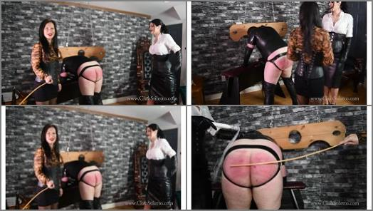 Spanking F_m –  Club Stiletto FemDom – Ass Annihilation by Miss Jasmine and Mistress Damazonia –  Mistress Damazonia and Miss Jasmine
