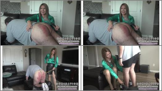 Pantyhose/stockings –  Domination For Your Own Good – Your wife sent me to keep you in line – sister in law spanks hard