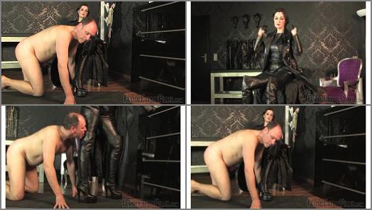 Ball Busting – Femme Fatale Films – Leather Licking Loser – Super HD – Complete Film –  Lady Victoria Valente
