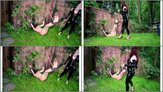 Mistress Lady Renee  Backyard bastinado  preview